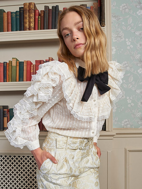 Sweetest Lace Ruffle Shirt