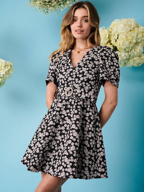 Lavender Twist Mini Dress