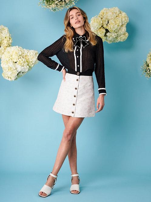 Ray Floret Jacquard Mini Skirt