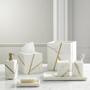 Marble Brass Bath Accessories Kassatex Josephine Faye