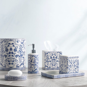 Orsay Portugese Tile Style Kassatex Bathroom Accessories Josephine Faye
