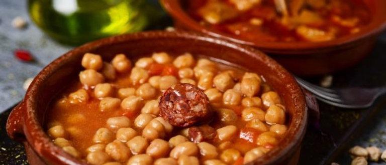 Garbanzos Peperonni y Tocino Ahumado 1,2 KG