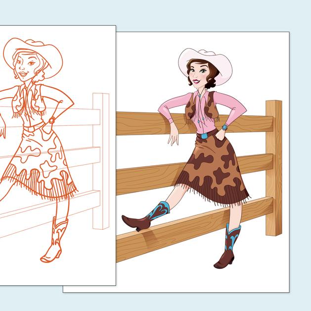 Rosa Reed Sketch Process