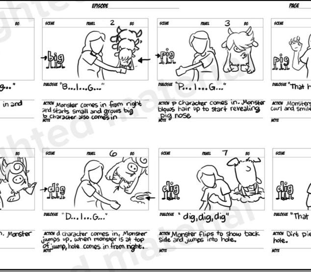 Heidi Songs Storyboards