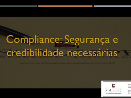 Compliance: segurança e credibilidade necessárias