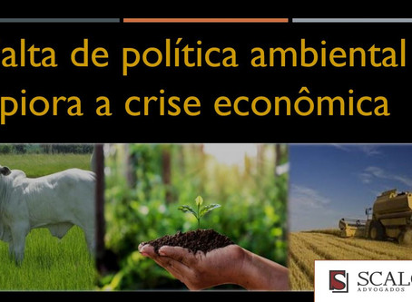 Falta de política ambiental piora a crise econômica