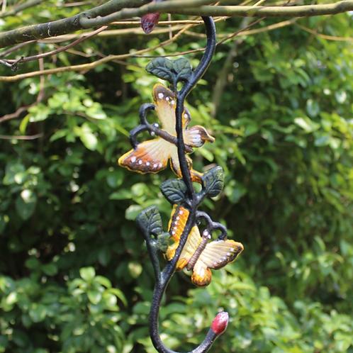 Iron planter hook (butterfly design)
