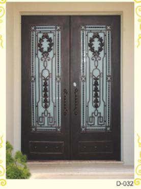 D-032 (Wrought iron Entrance door) Standard size