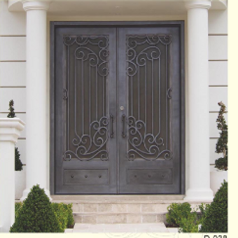 D-038 (Wrought iron Entrance door) Standard size