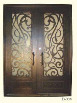 D-034 (Wrought iron Entrance door) Standard size