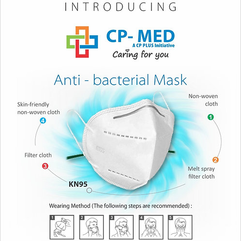 CP-MED KN95 Mask by CP Plus, Rs.150/Piece, MOQ 200 Pieces