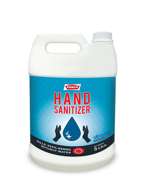 Parle Hand Sanitizer 5LTR packaging, MOQ-4 Cans, Rs. 800/Can