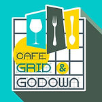 cafe grid and godown logo