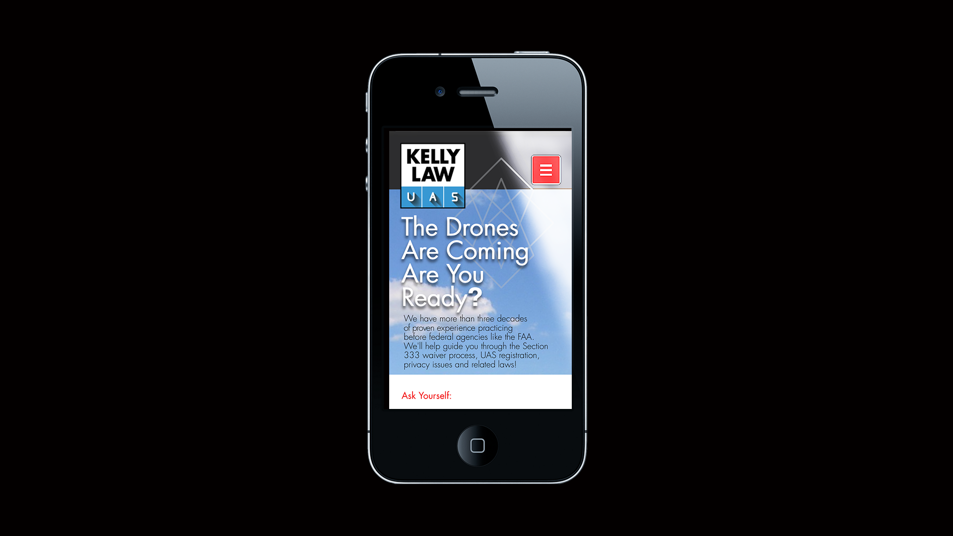 Kelly Law UAS mobile site
