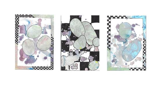 Triptych for the Colour Purple