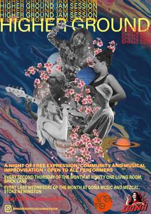 Higher Ground Jam Session Poster- Spring 2020