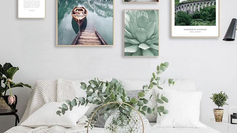 Scandinavian Boat Lake Canvas Poster