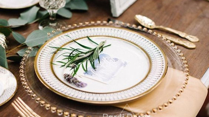 European Glass Pearl Plate 1pc/Lot