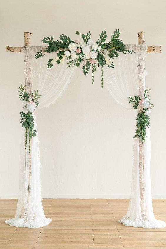 Light Lace with Floral Arrangements