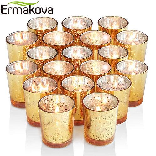 Mercury Glass Votive Candle Holder
