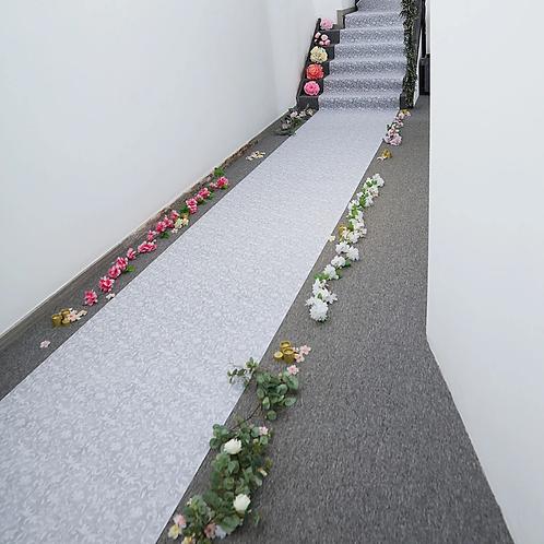 White Floral Aisle Runner