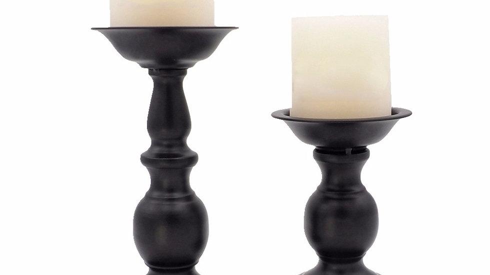 Black Metal Candlestick Holder Stand