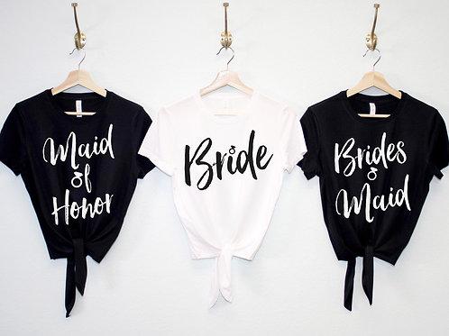 Wedding Crop Top Shirts with Front Ties