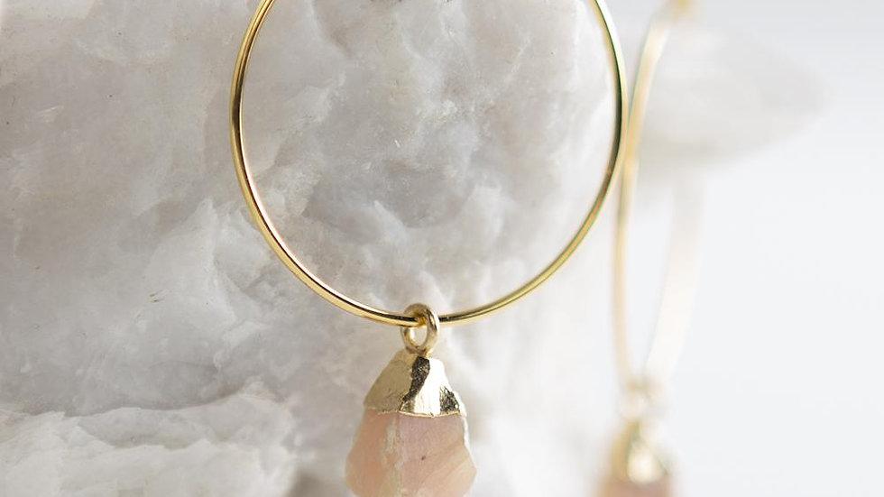 Bella Earrings-Rose Quartz
