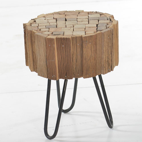 Nomad Side Table With Hairpin Legs