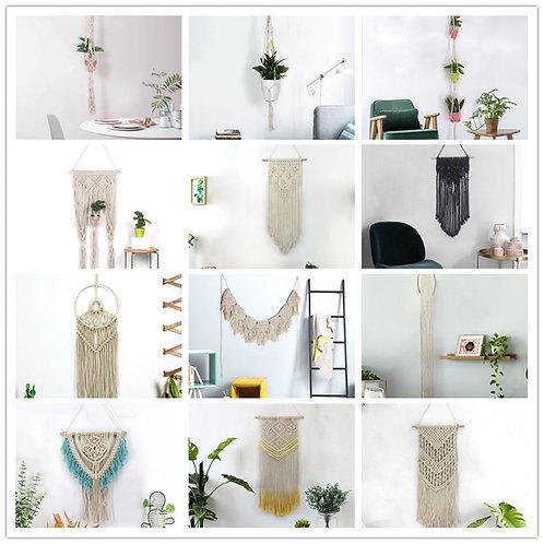 Handmade Hanging Tapestry Macrame Wedding Ceremony Backdrop Wall Art