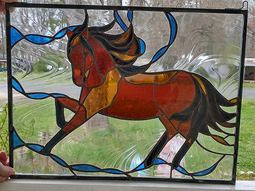 Stained Glass Horse Ticket