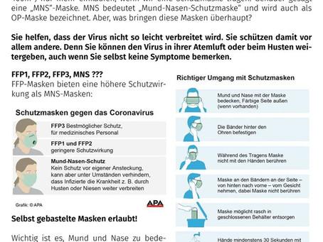 Zivilschutz Information - COVID19 - Masken