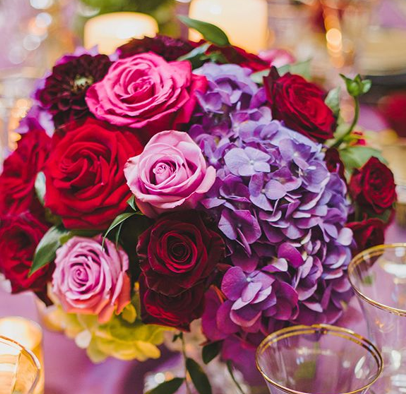 Rose with Lavender Hydrangea