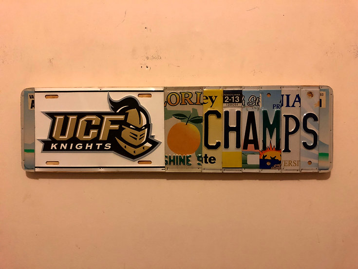 UCF Knights License Plate Sign