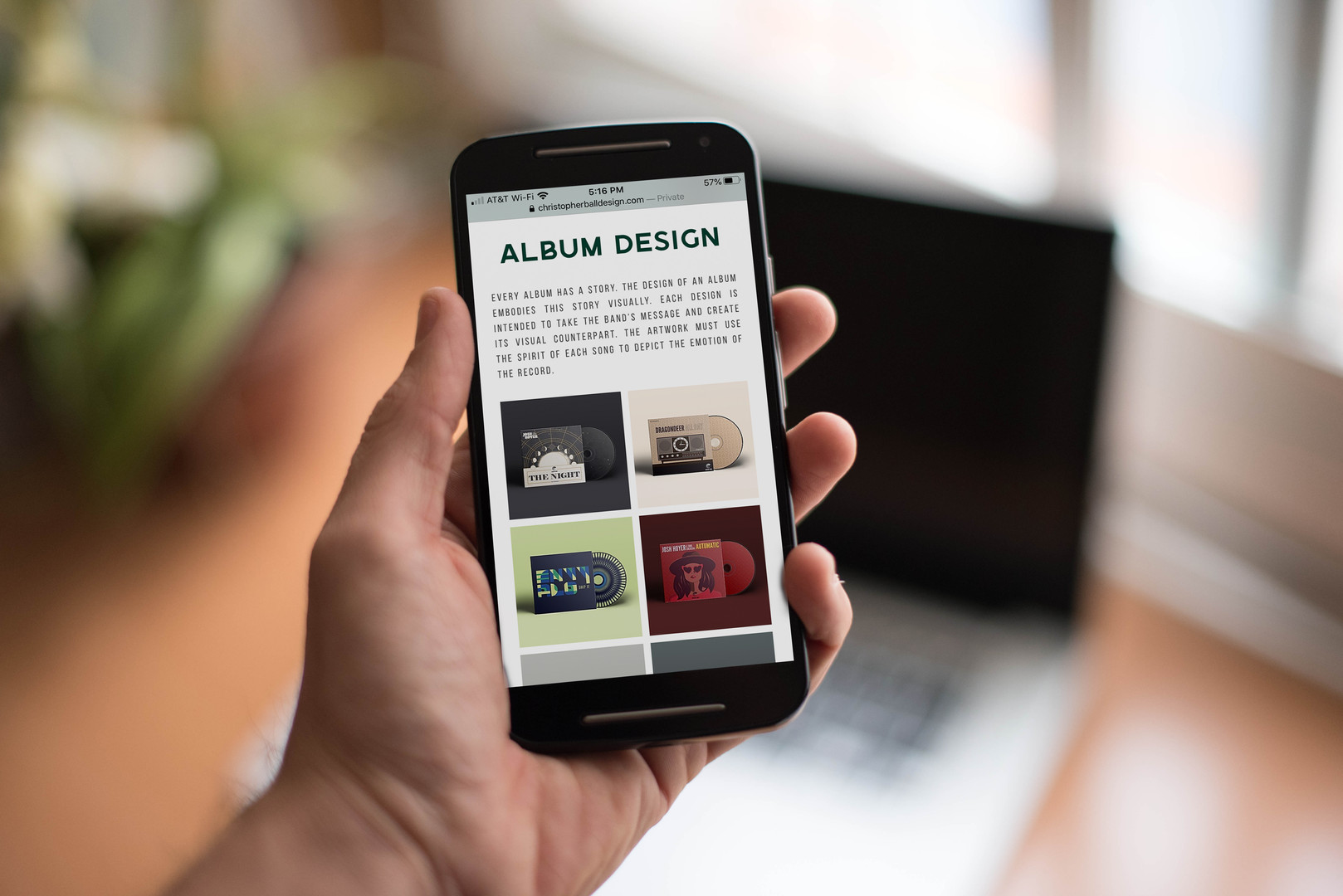 Christopher Ball Design Website (2020)