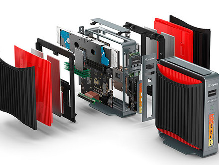 Compulab começa Kickstarter para Airtop2 Inferno, mini-PC sem fan com uma GTX 1080 desktop