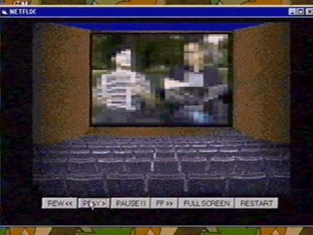 INTERNET Imaginaram como seria a Netflix em um PC Windows em 1995