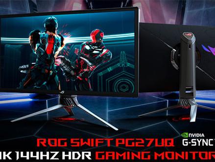 Monitor ASUS ROG Swift PG27UQ 4K 144Hz com HDR e G-Sync chega em abril