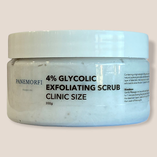 4% Glycolic exfoliating scrub clinic size 300g