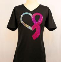 Breast Cancer Ribbon Heart