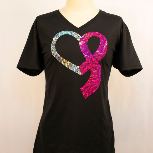 Breast Cancer Ribbon Heart