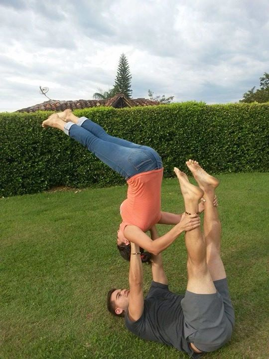 Her First Time Doing AcroYoga