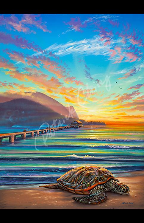 Honu Sunset - Hanalei