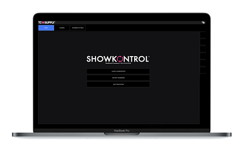 ShowKontrol login screen