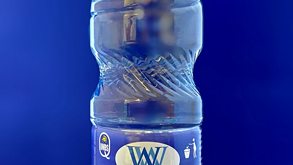 1,500ml - 12 x Bottles of Mineral Water in plastic wrap packaging