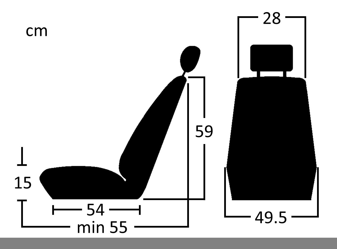 Donington 917-1 kunstleer afmetingen