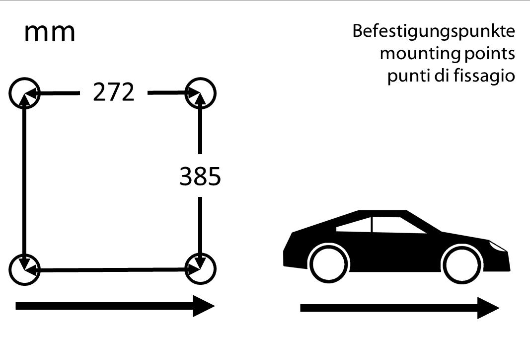 Rally ST 970 cord bevestigingspunten