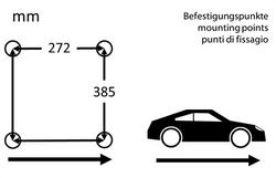 LeMans 981-5 pepita bevestigingspunten