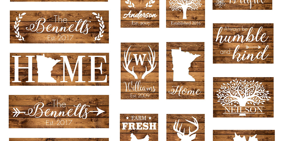 Rustic Wood Sign Painting