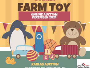 Sixth Annual December Online Farm Toy Auction
